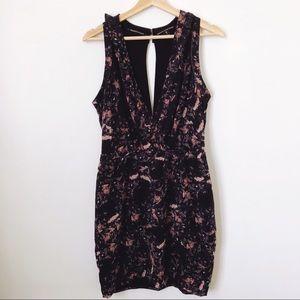ASOS Maison Scotch Black Floral Ruffle Dress